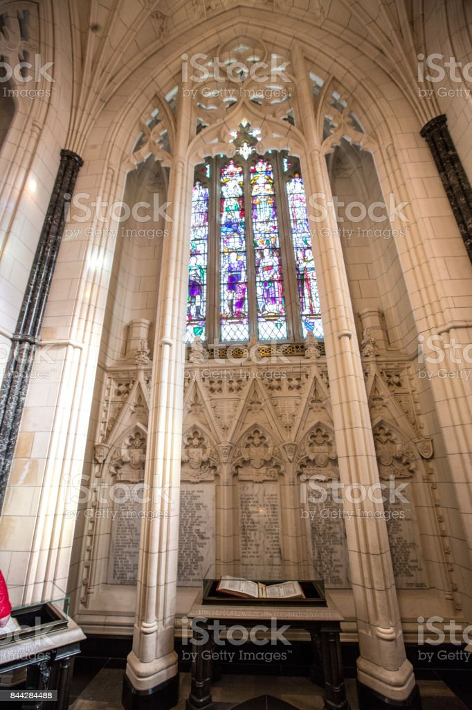 Memorial Chamber in the Peace Tower of Parliament Facility, Ottawa, Canada stock photo