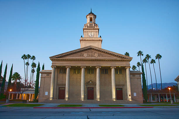 Memorial Chapel On the campus of the University of Redlands, Redlands, California. san bernardino california stock pictures, royalty-free photos & images