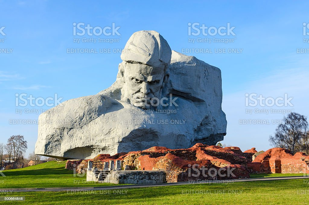Memorial complex 'Brest Hero Fortress', monument 'Courage' stock photo