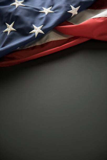 Memorial Day American Flag on Blank Black Chalkboard This is a close up photo of an American flag on blank chalkboard. This is a great image for memorial day, Fourth of July, veterans Day, etc. independence day photos stock pictures, royalty-free photos & images