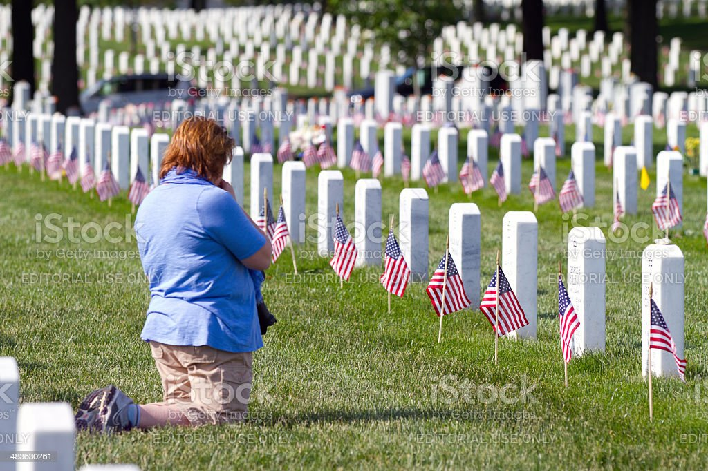 Memorial Day, Arlington National Cemetery stock photo