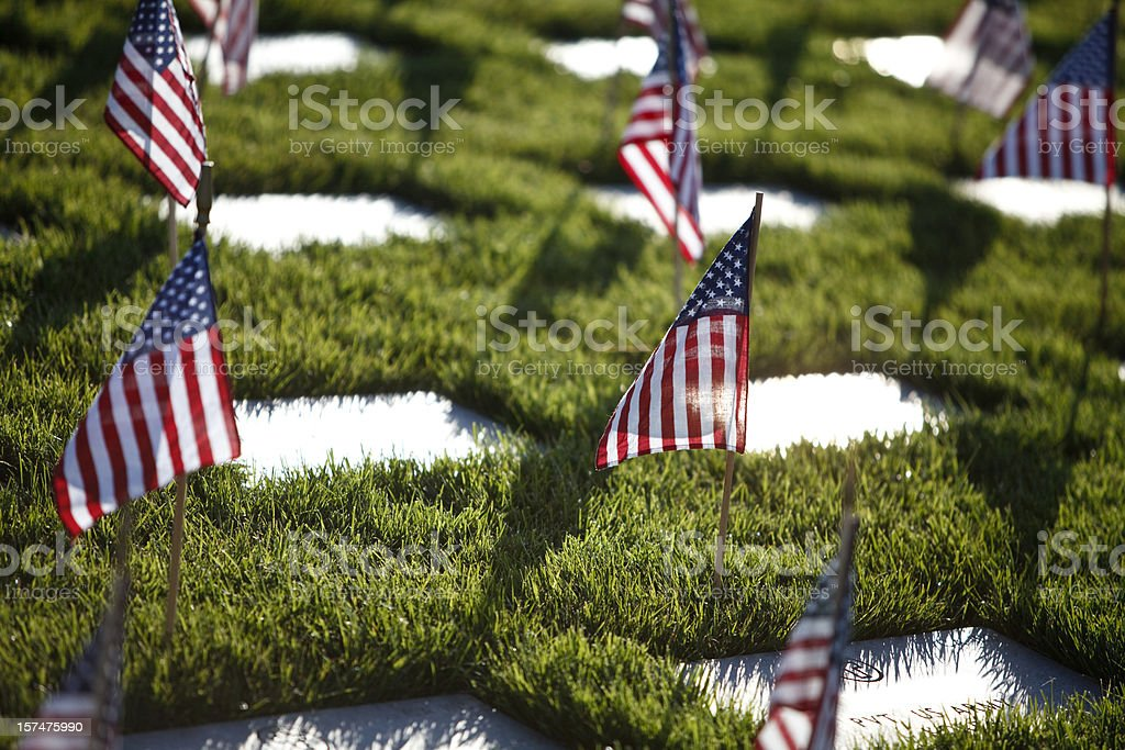 Memorial Day at the Cemetery royalty-free stock photo