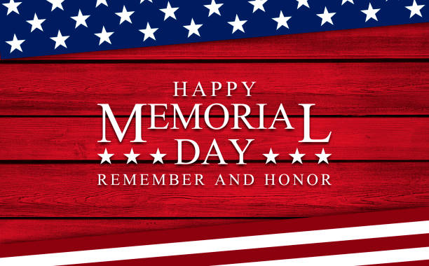 usa memorial day background on wood - memorial day stock pictures, royalty-free photos & images