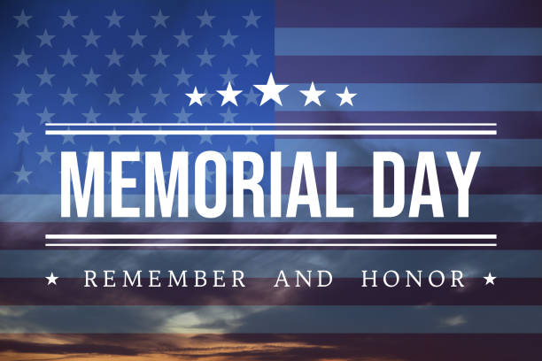 usa memorial day background - memorial day stock pictures, royalty-free photos & images