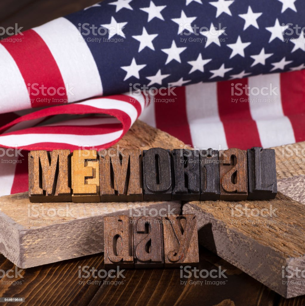 Memorial Day Banner stock photo
