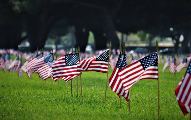 memorial day ceremony - memorial day stock pictures, royalty-free photos & images