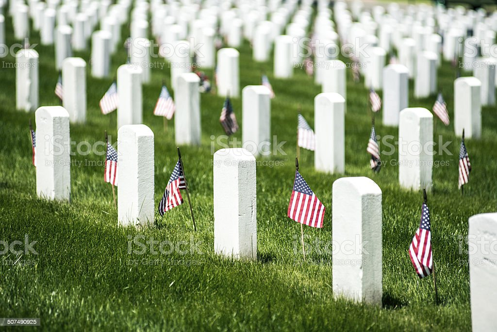 Memorial Day in Arlington National Cementery stock photo