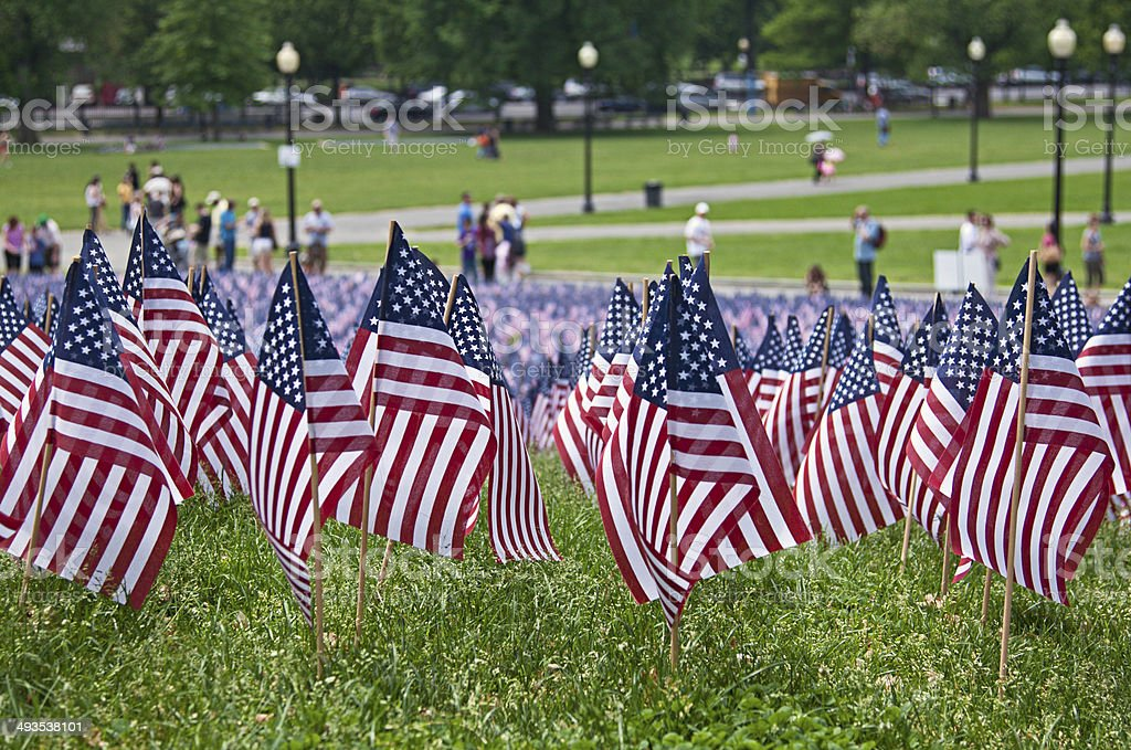 Memorial day in Boston Commons royalty-free stock photo