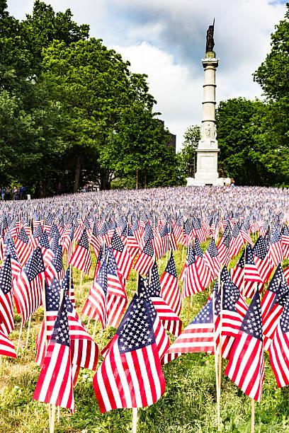 Memorial day on Boston Common stock photo