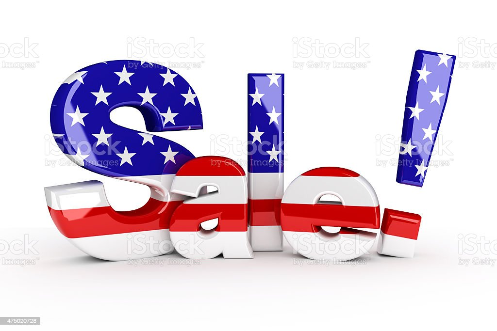 Memorial day or 4th of July sale stock photo