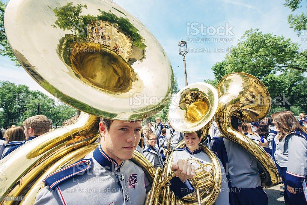 Memorial Day Parade Washington DC stock photo