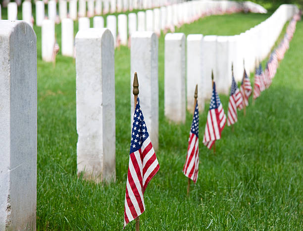 memorial day - arlington national cemetery stock pictures, royalty-free photos & images