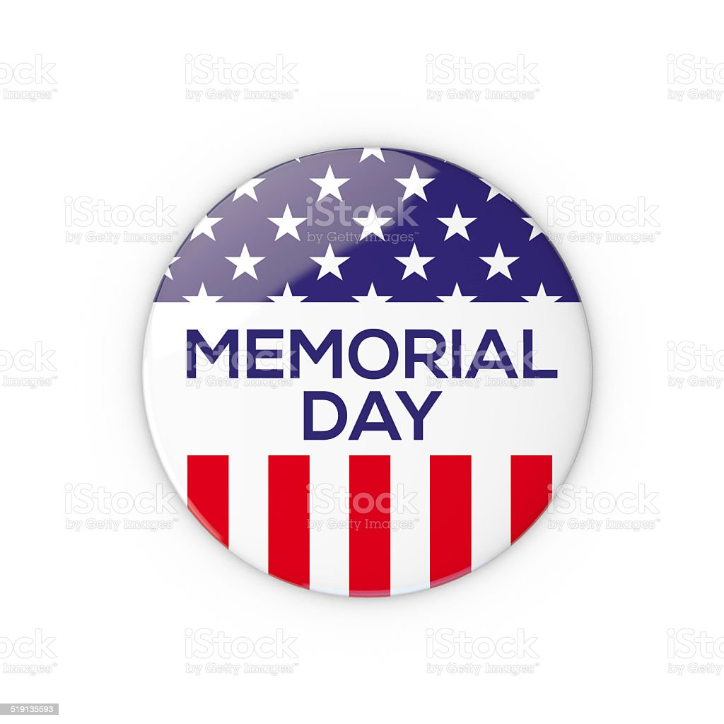6a7b95aaea2c Foto de Pin Escudo Do Memorial Day Dos Eua e mais fotos de stock de ...