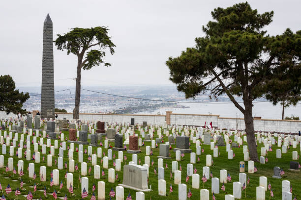2018 Memorial Day Services at the Fort Rosecrans National Cemetery stock photo