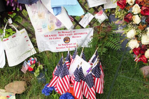 Memorial Firemen Hotshots Flags