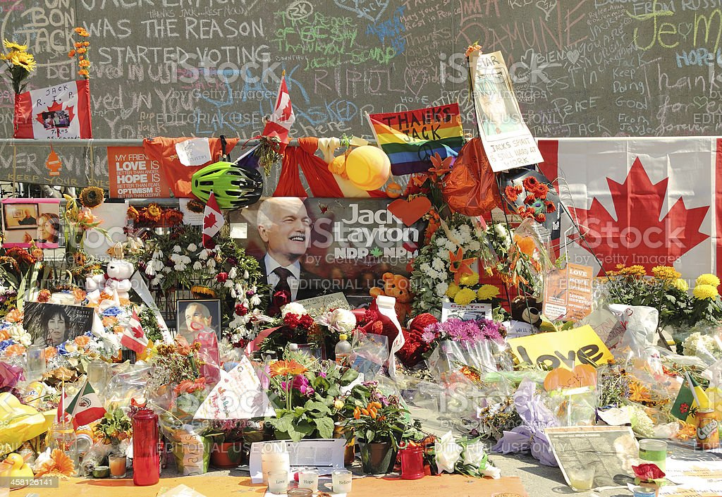 Memorial for Canadian Federal NDP Leader Jack Layton royalty-free stock photo