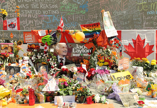Memorial for Canadian Federal NDP Leader Jack Layton stock photo