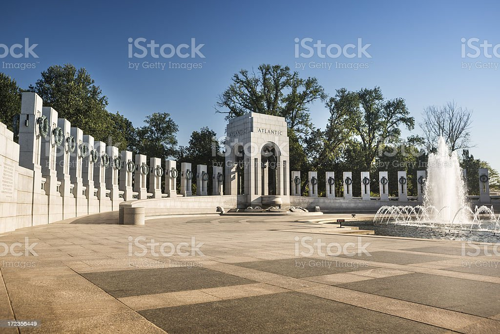 WW II Memorial fountain Washington D.C. royalty-free stock photo