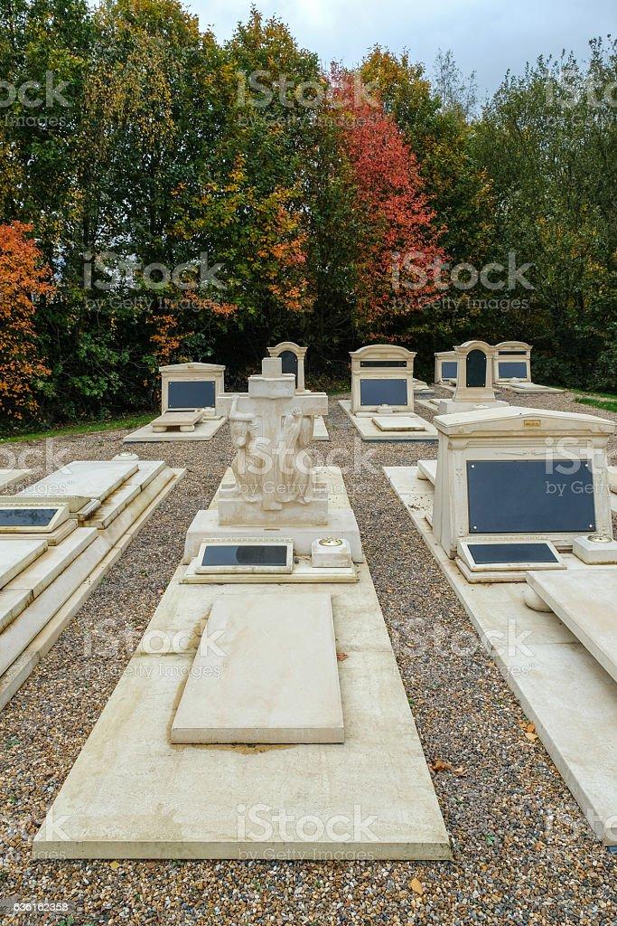 Memorial garden, portrait view. stock photo