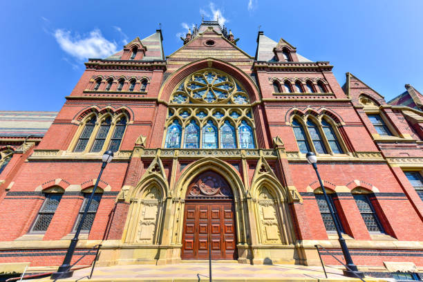 Memorial Hall at Harvard University Memorial Hall at Harvard University in Boston, Massachusetts. Memorial Hall was erected in honor of Harvard graduates who fought for the Union in the American Civil War. harvard university stock pictures, royalty-free photos & images