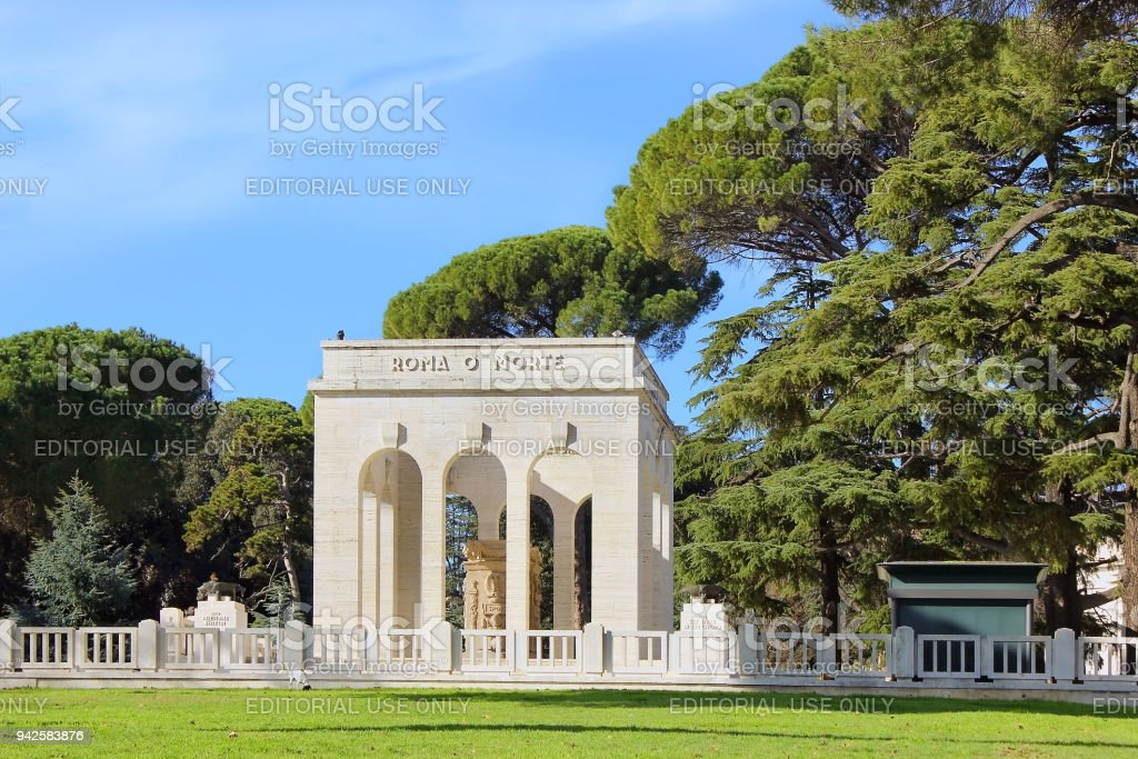 memorial honoring the italian patriots who died in the italian Independence Wars, Rome stock photo