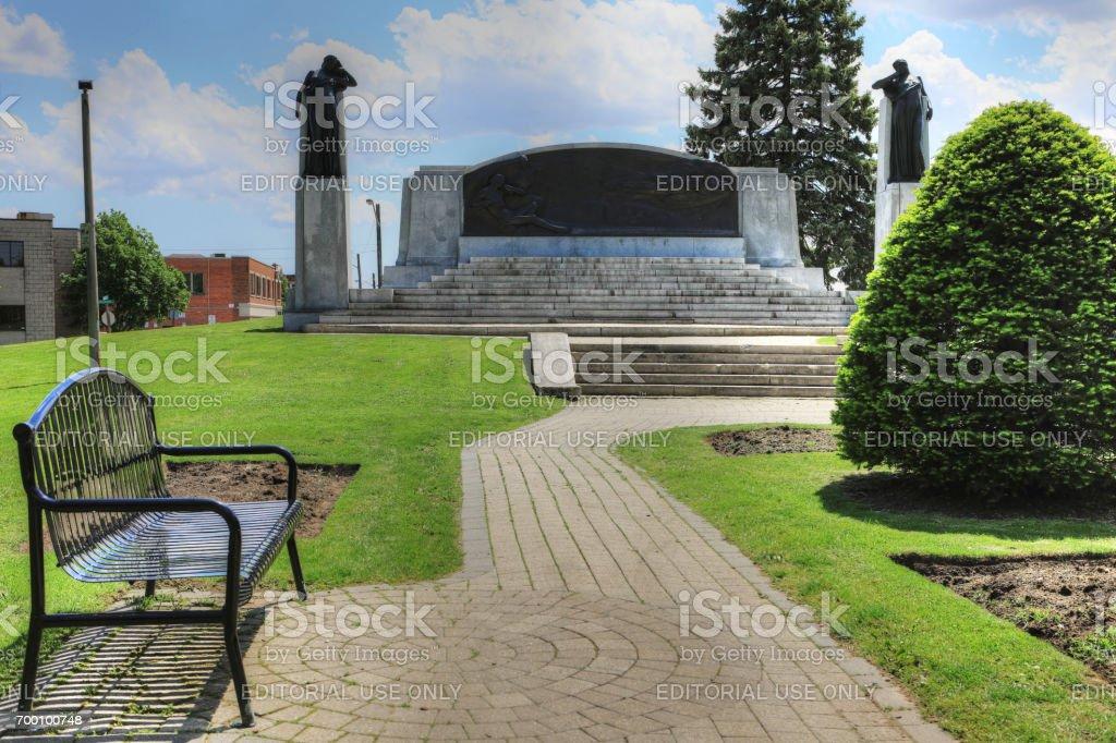 Memorial in Brantford, Canada to Alexander Graham Bell stock photo