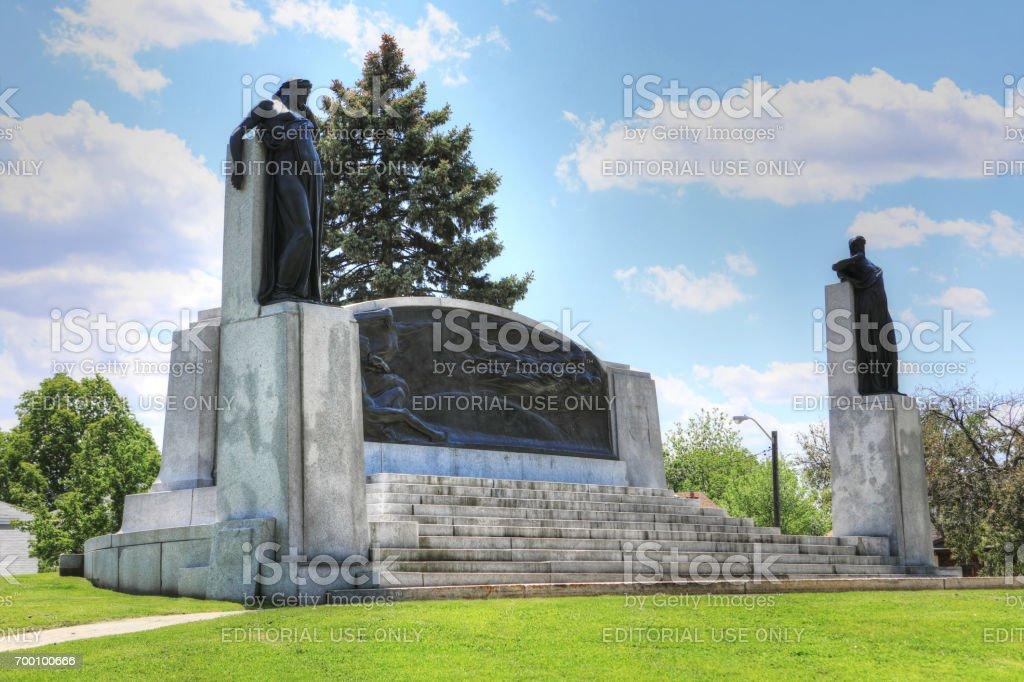 Memorial in Brantford, Ontario, Canada to Alexander Graham Bell stock photo