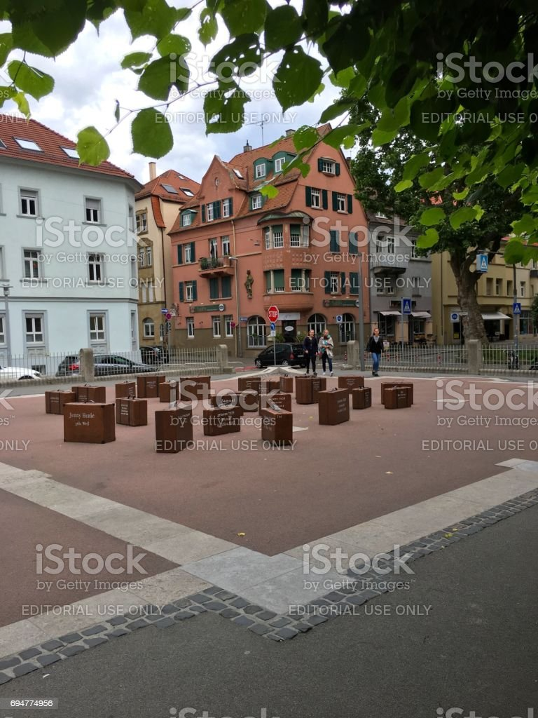 Memorial in Ludwigsburg, Germany, for deported jews. stock photo