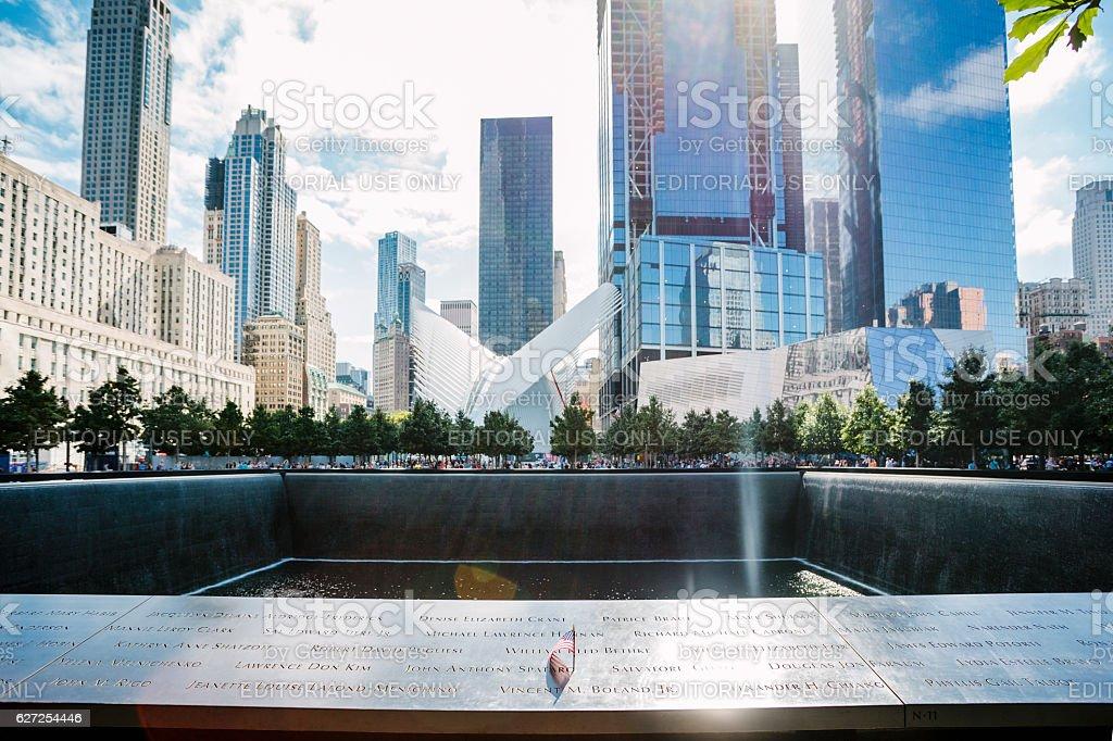 9-11 Memorial in New York stock photo