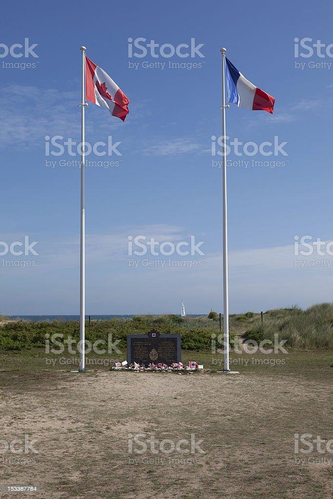 Memorial in Normadie stock photo
