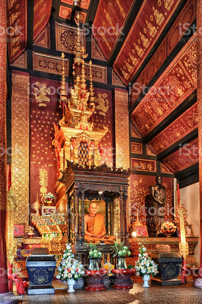 Memorial monk royalty-free stock photo
