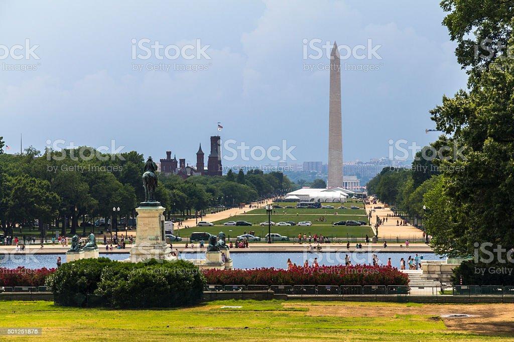 Memorial Monument in Washington stock photo