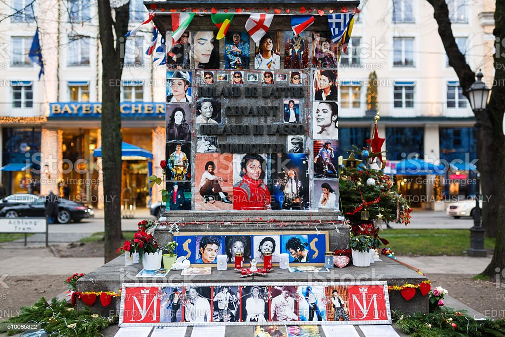 Memorial of Michael Jackson in Munich stock photo