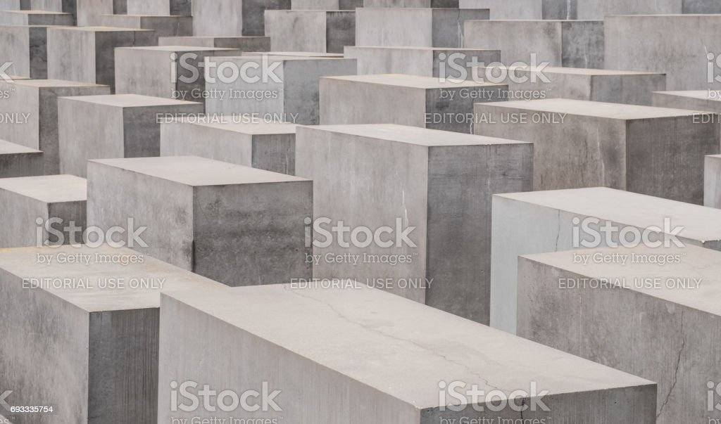 Memorial of the Murdered Jews in Europe also known as the Holocaust Memorial  in Berlin stock photo