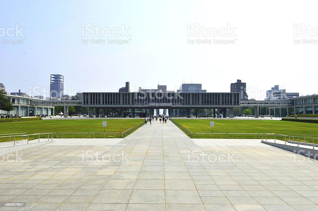 Memorial park and hall, Hiroshima, Japan royalty-free stock photo