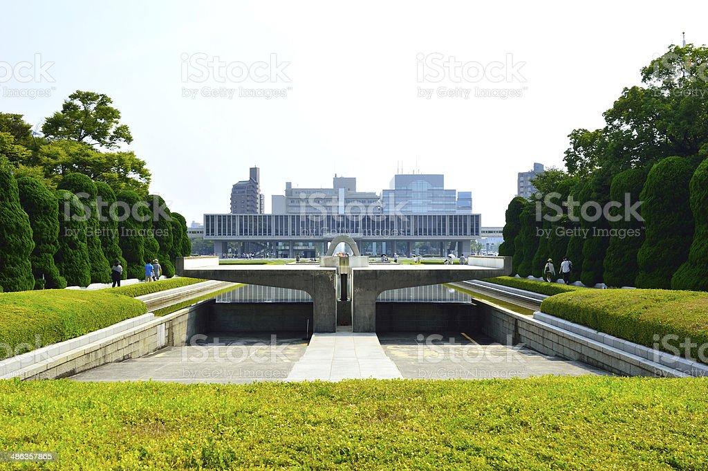 Memorial park and hall, Hiroshima, Japan stock photo