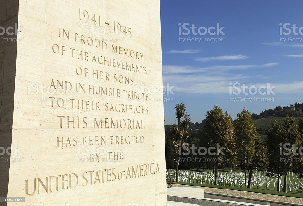 WWII Memorial royalty-free stock photo
