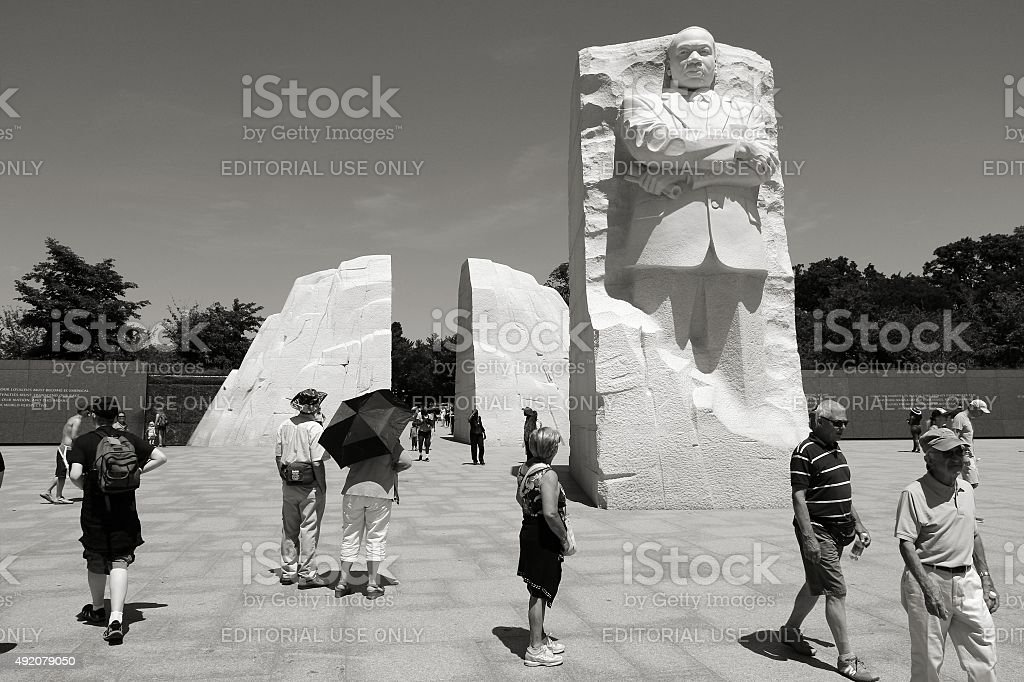 MLK memorial stock photo