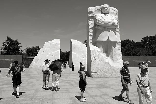 MLK memorial Washington, United States - June 15, 2013: People visit Martin Luther King memorial on June 15, 2013 in Washington. 18.9 million tourists visited capital of the United States in 2012. martin luther king jr photos stock pictures, royalty-free photos & images