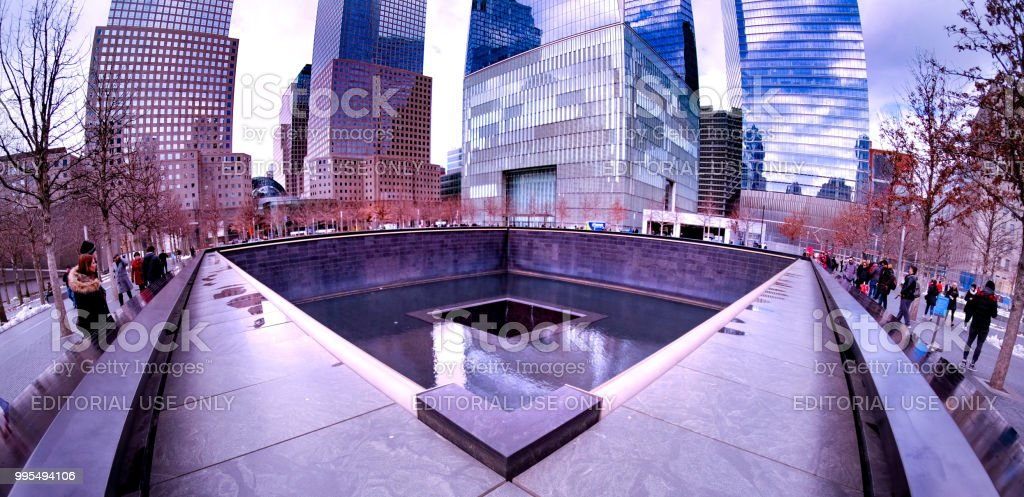 9-11 Memorial stock photo