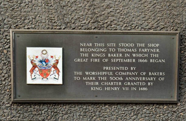 Gedenktafel mit den großen Brand von London 1666, Pudding Lane, London, 2017 – Foto