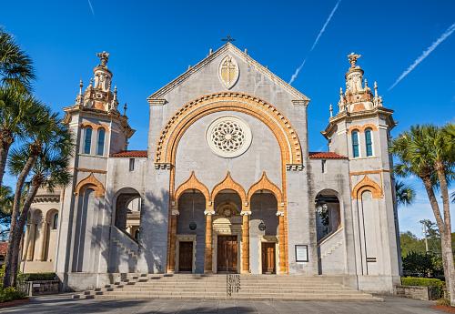 St. Augustine, Florida, USA - January 18, 2015 : Memorial Presbyterian Church in St. Augustine, Florida, USA
