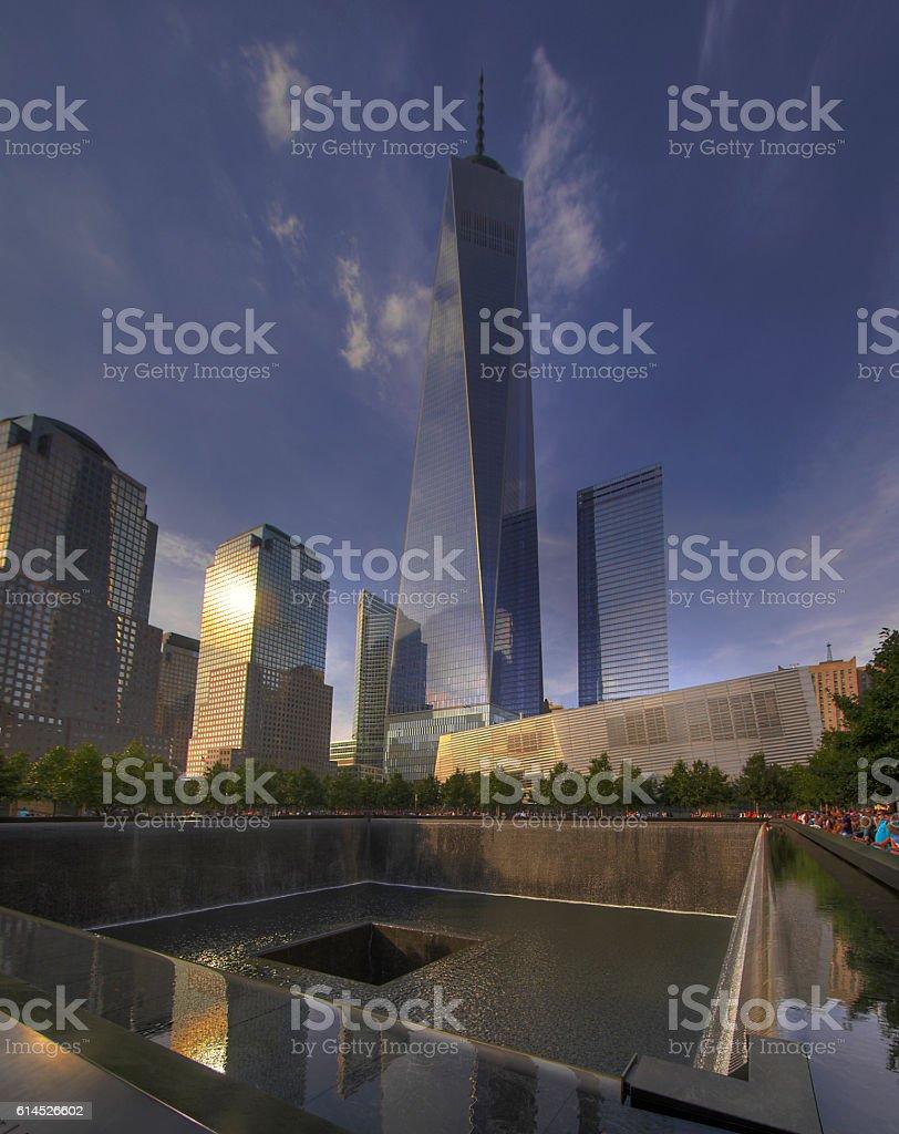 9/11 Memorial Site in New York stock photo