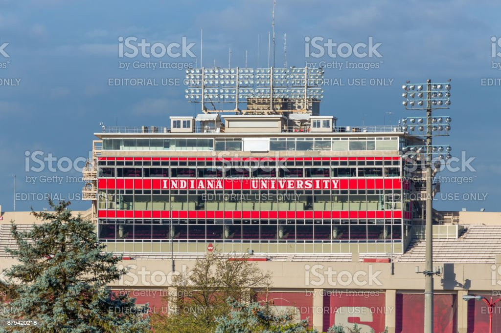 Memorial Stadium on the Campus of the University of Indiana stock photo