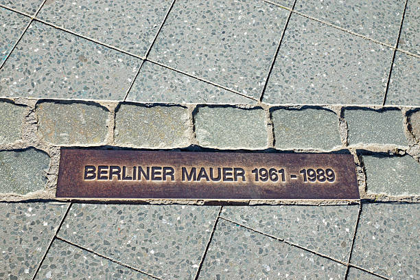 Memorial tablet for the Berlin Wall stock photo