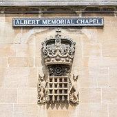 Windsor, England - June 09, 2017: Memorial tablet of prince Albert memorial chapel at Windsor Castle in England