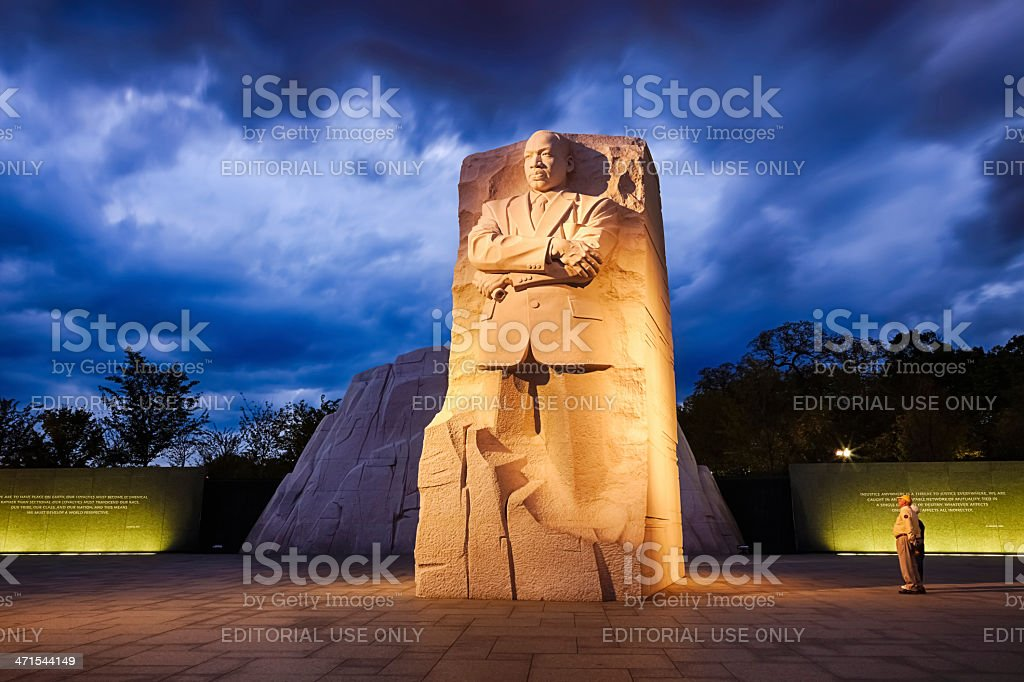 Memorial to Dr. Martin Luther King stock photo