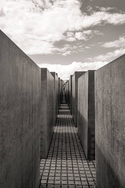 Memorial to the Murdered Jews of Europe in Berlin City, Germany stock photo