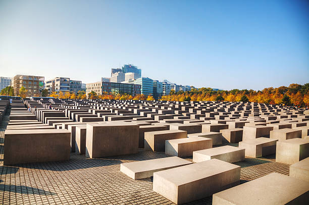 Memorial to the Murdered Jews of Europe in Berlin stock photo