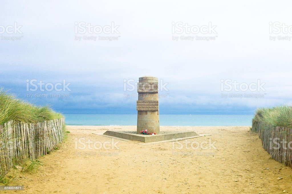 Memorial to the Normandy landings, Juno Beach stock photo